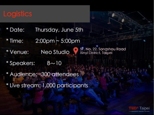 TED talk on 5 June